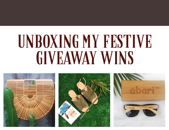 My festive giveaway wins